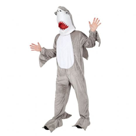 Adult Deluxe Mini Mascot Costume for Animals Creatures Fancy Dress Mens Ladies Shark